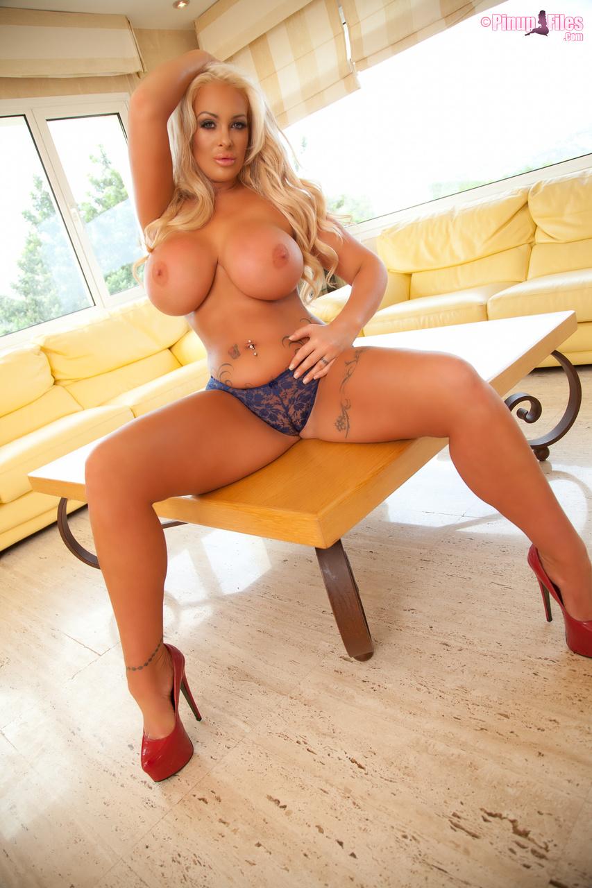 Big boobs high heels